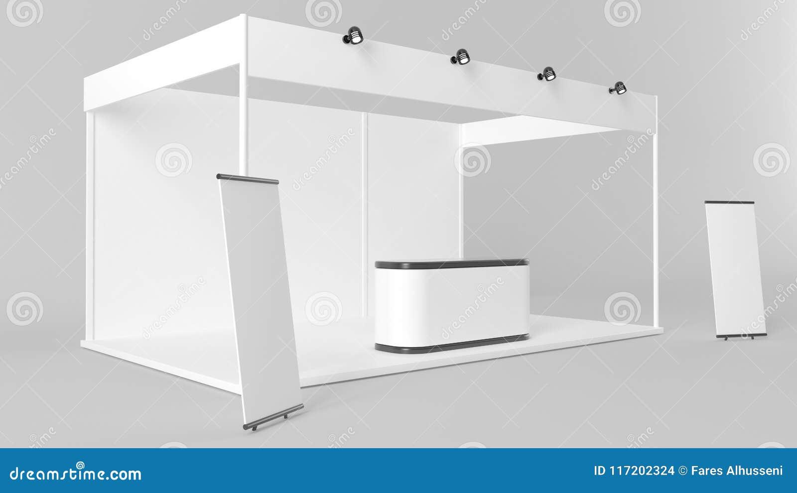 Exhibition Stand Template : White creative exhibition stand design booth template corporate