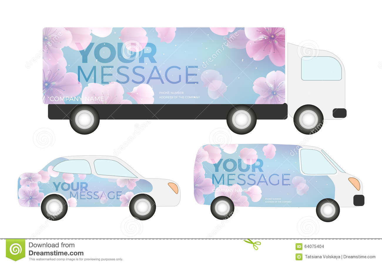 White Creative Transport Advertising Design With Color