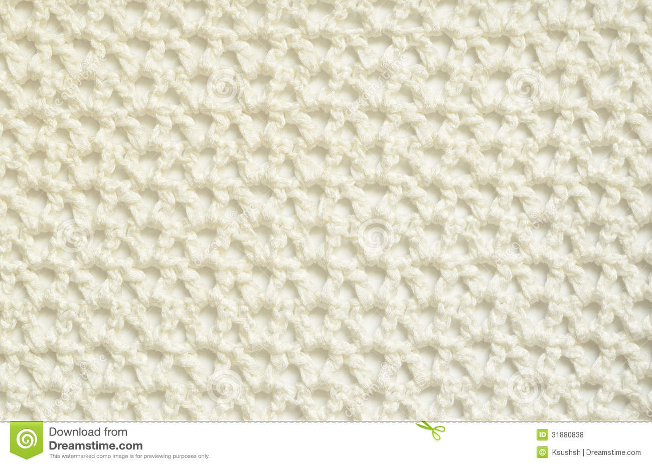 White crochet fabric for background.