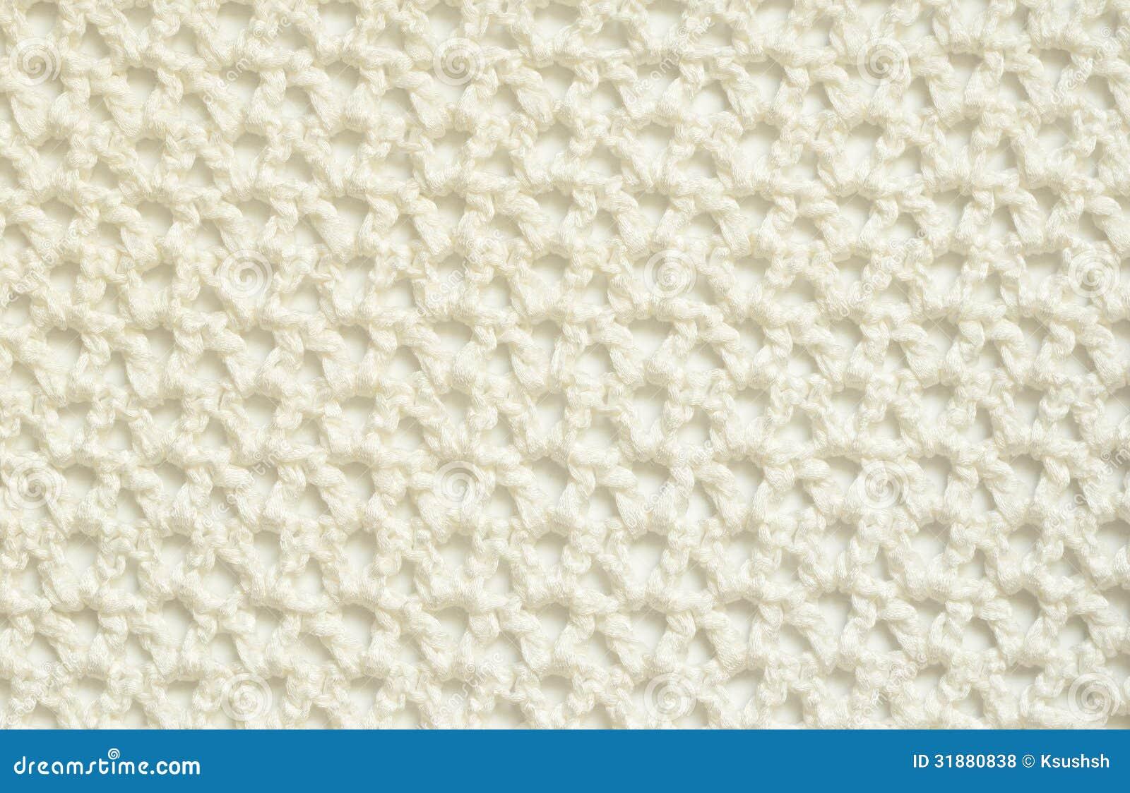 Crochet Materials : White crochet fabric for background.