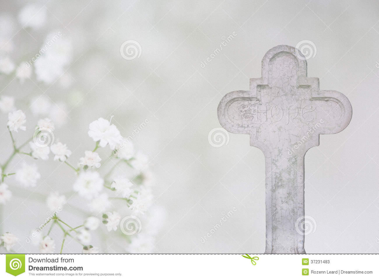 White cross and hope funeral card stock image image of church white cross and hope funeral card izmirmasajfo