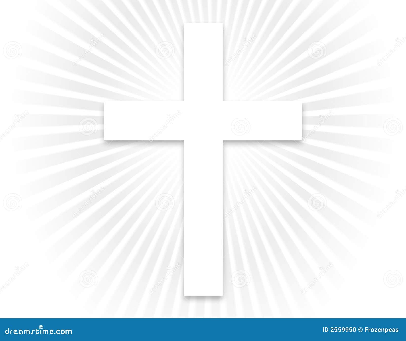 white cross - larger stock photo