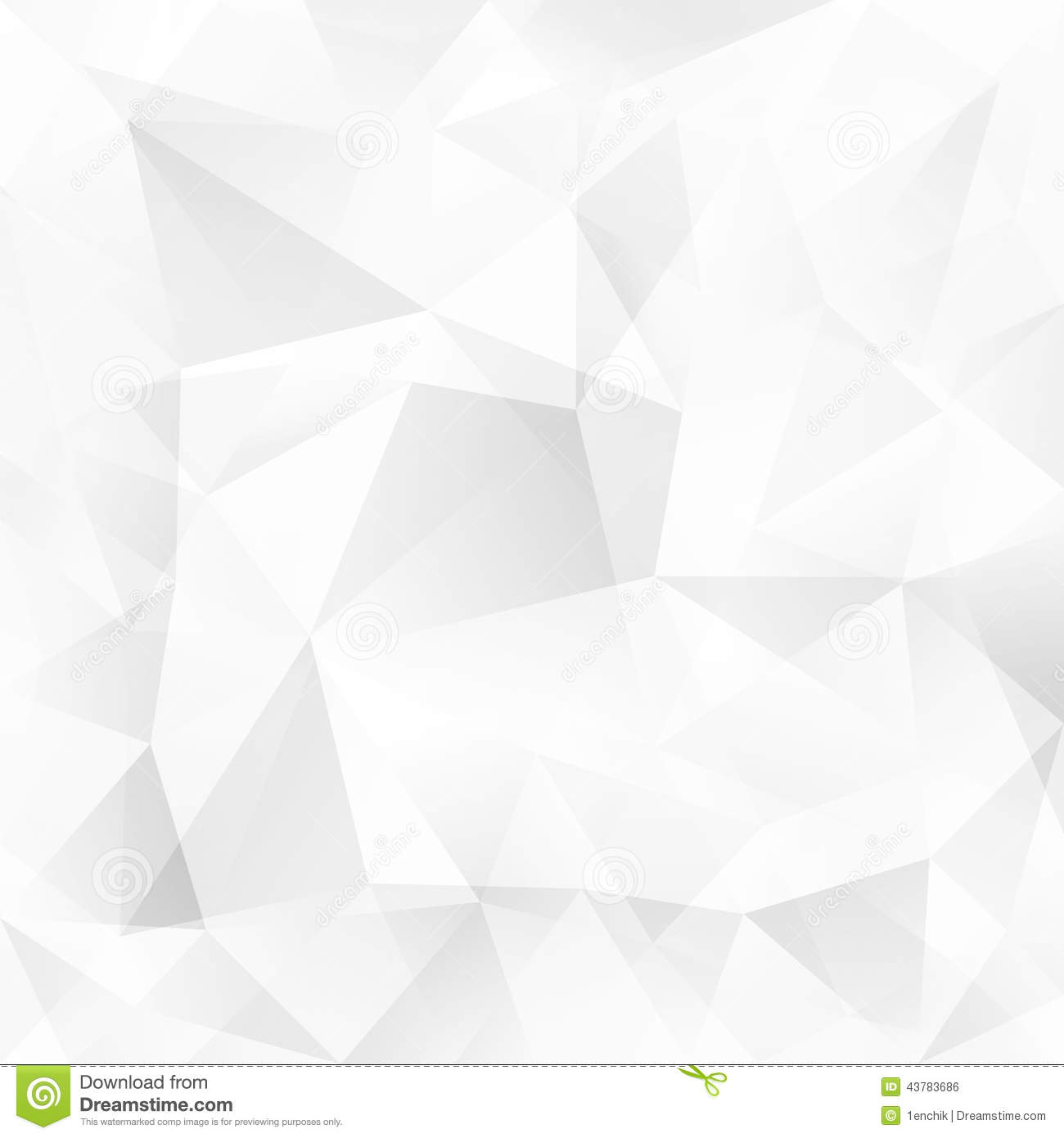 White crystal triangles vector abstract background