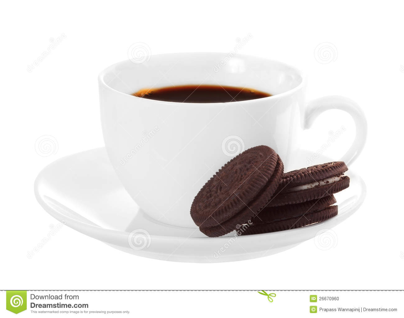 Chocolate Cookies And Cup Of Coffee Stock Photography ...