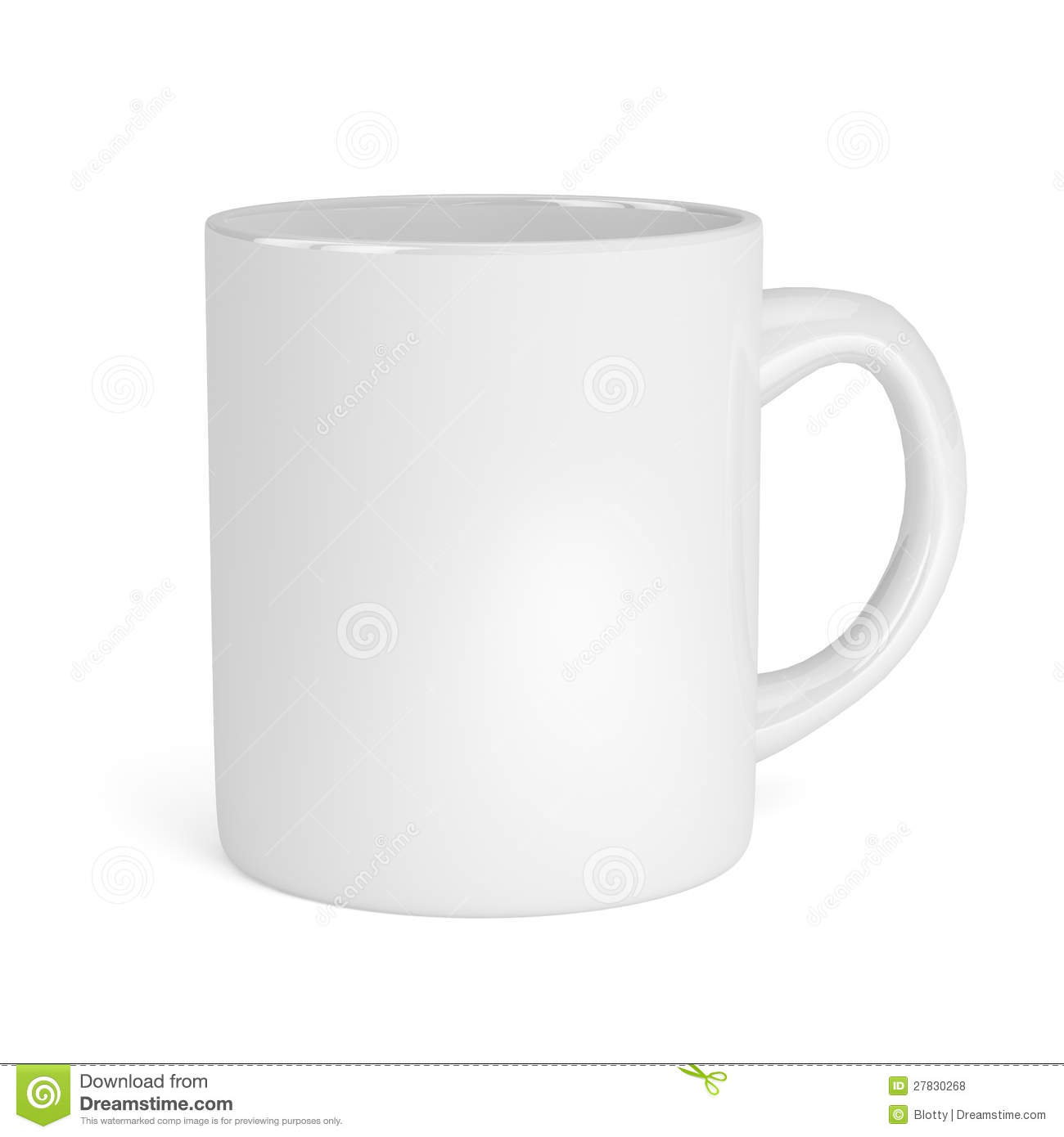White Cup Isolated On White Background Stock Illustration ...