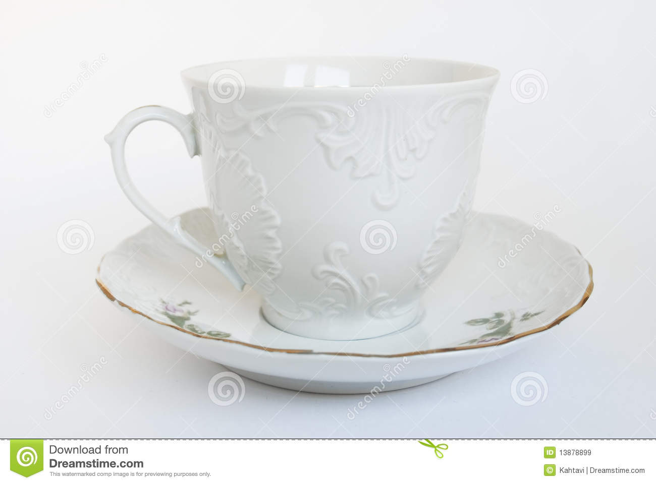 White Cup And Saucer Stock Image Image Of Drink Relief 13878899