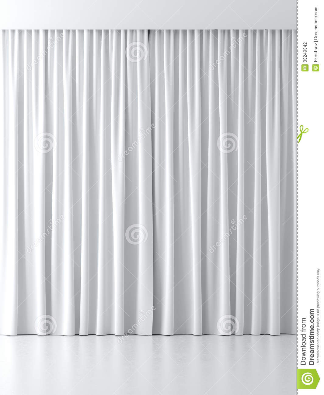 White Curtains Stock Photography - Image: 33249342