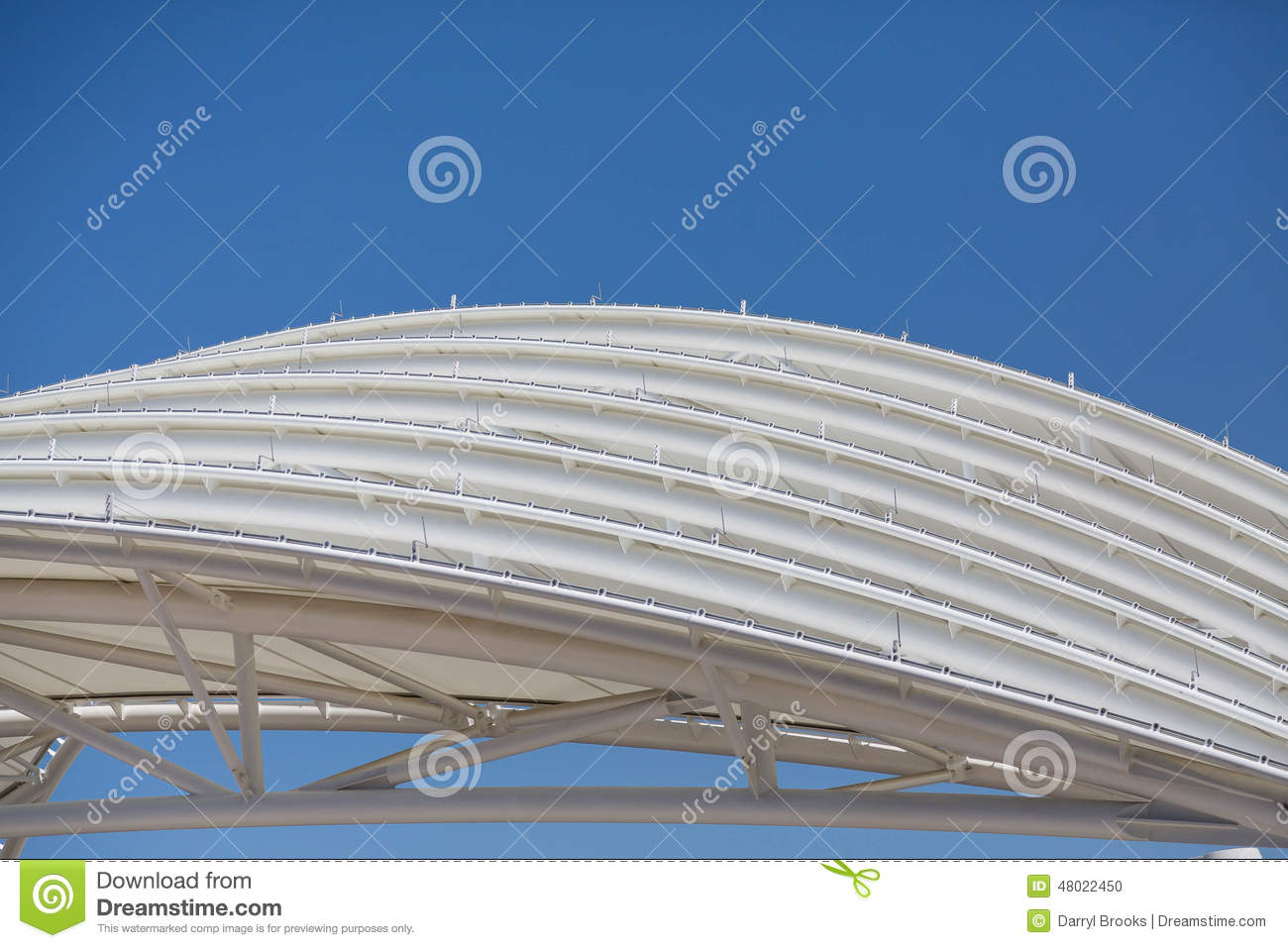 Curved Architecture White Curved Steel Roof Stock Photo Image 48022450