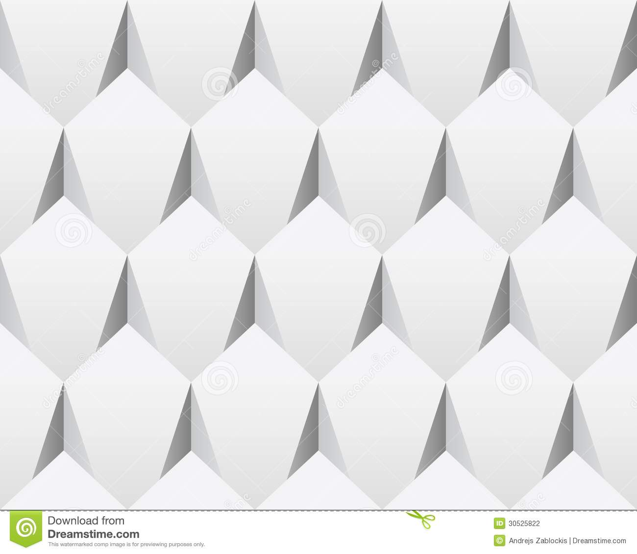 White 3d Abstract Seamless Texture vector Stock