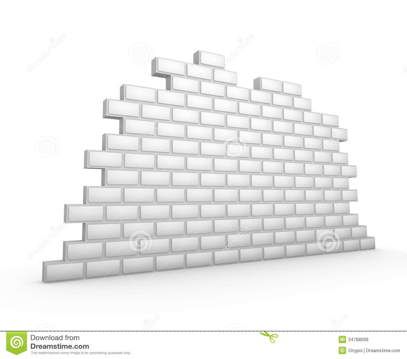 White 3d Brick Wall Stock Illustration Of Exterior