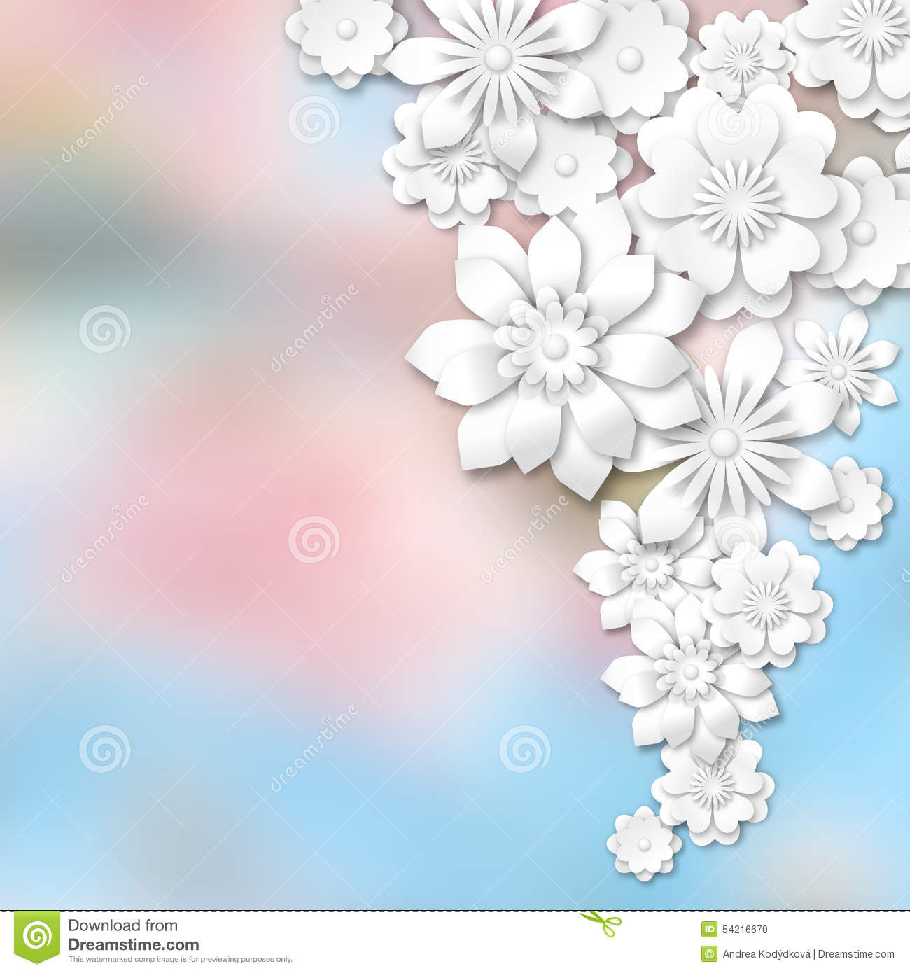 White 3d flowers on abstract blurred background stock for 3d white flower wallpaper