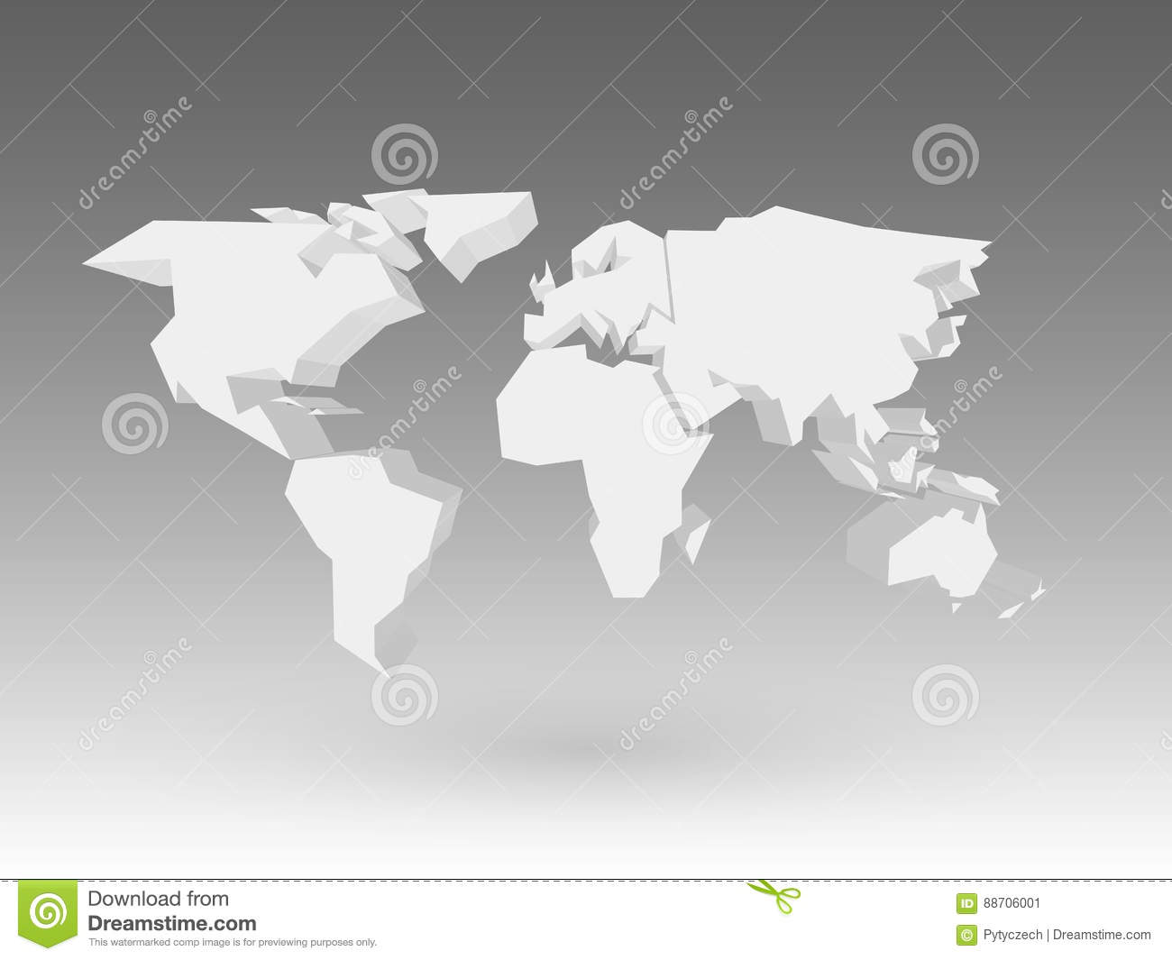 White 3d world map with dropped shadow on grey background eps10 download white 3d world map with dropped shadow on grey background eps10 vector illustration stock gumiabroncs Image collections