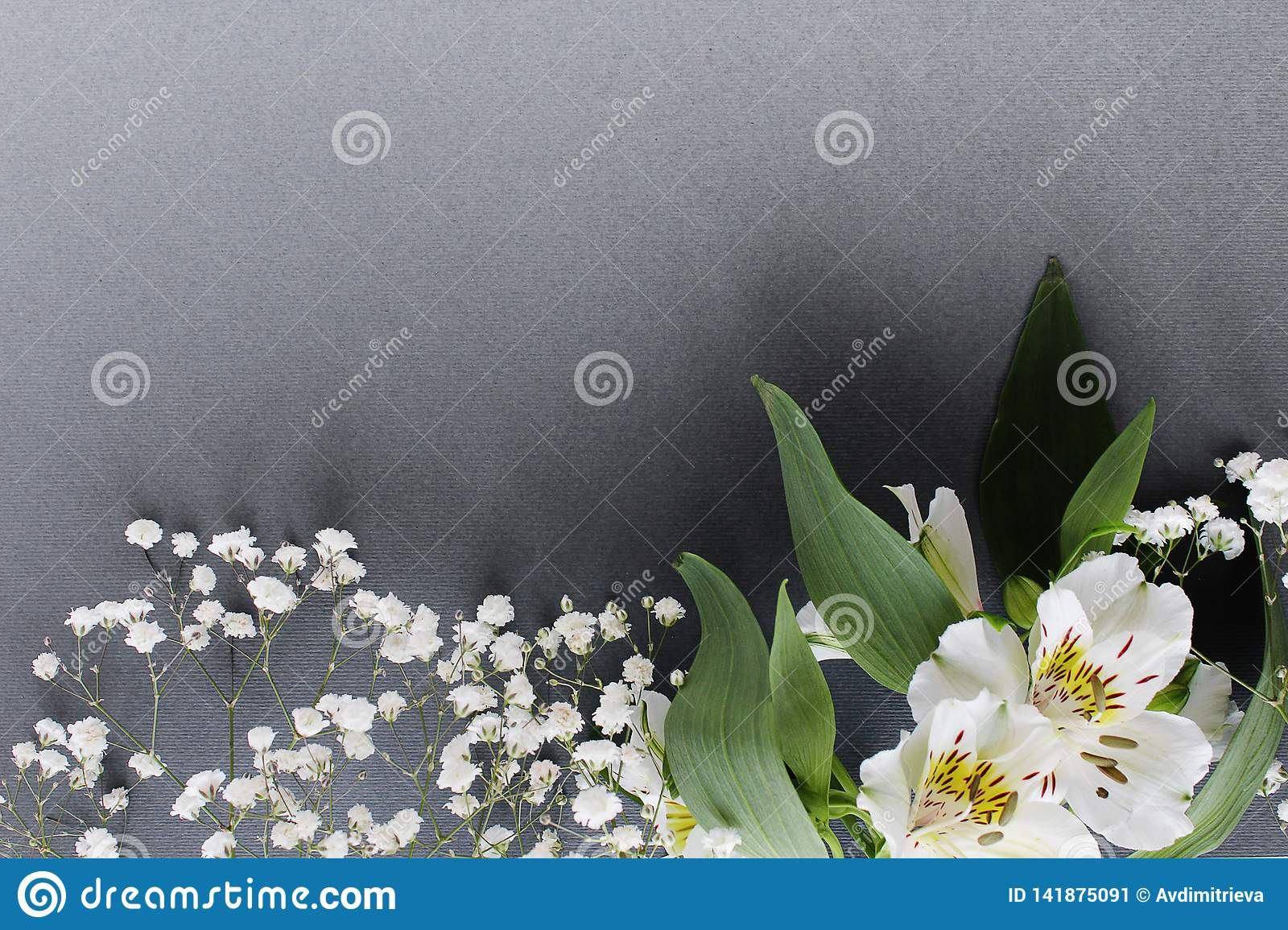 White bouquet flowers spring theme background
