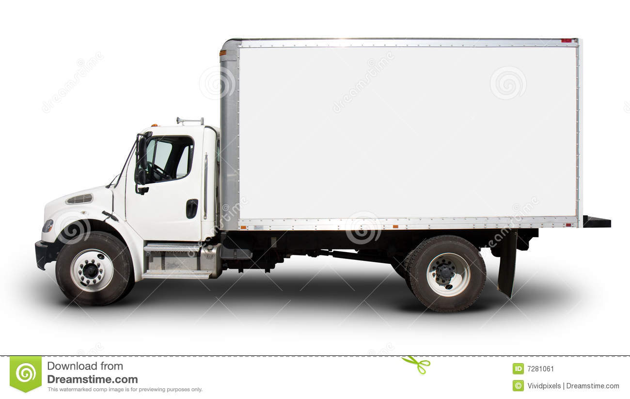 White Delivery Truck Side View Stock Image Image 7281061