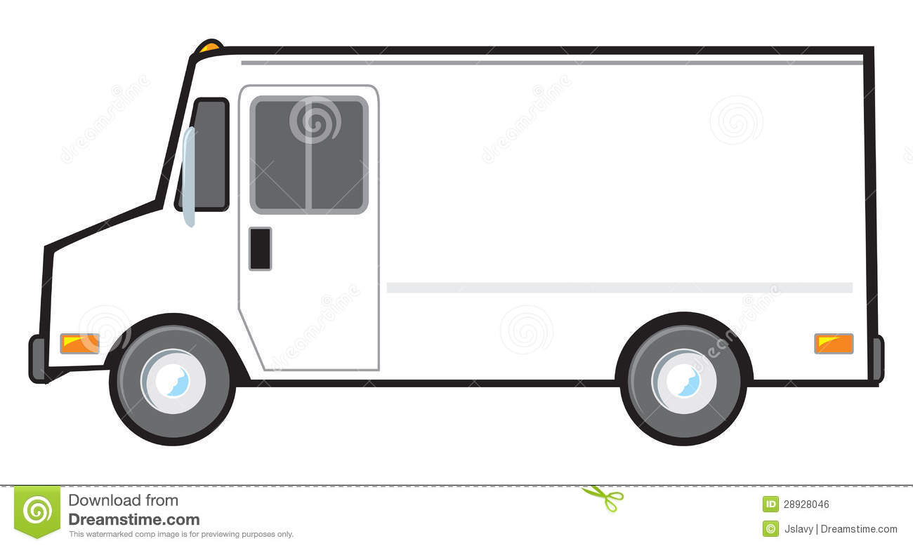 White Delivery Van stock vector. Illustration of postal ...Usps Delivery Truck Clipart