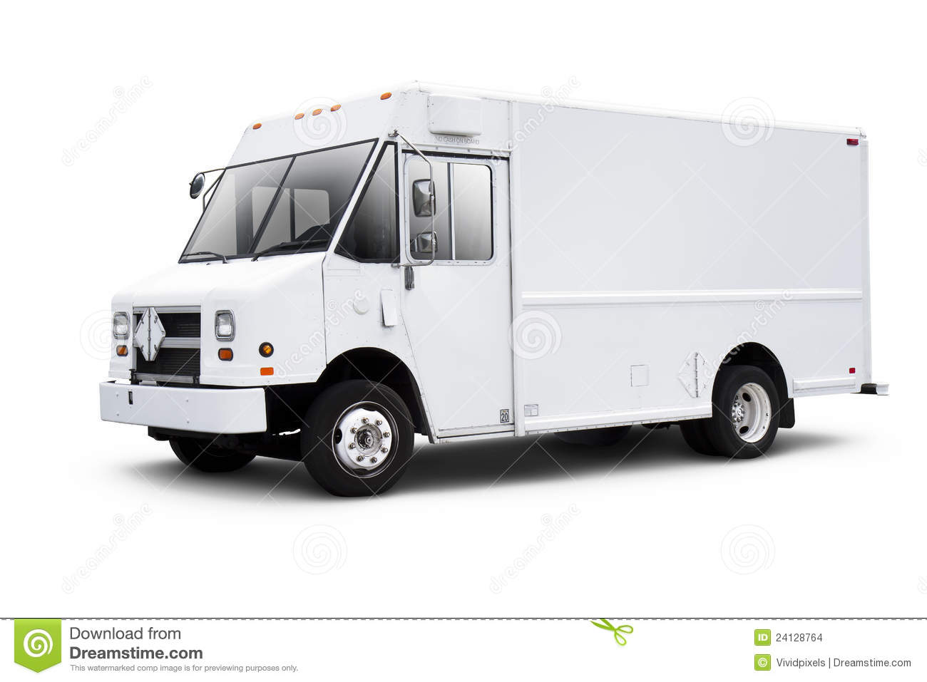 White Delivery Van On White With Drop Shadow Stock Images - Image ...