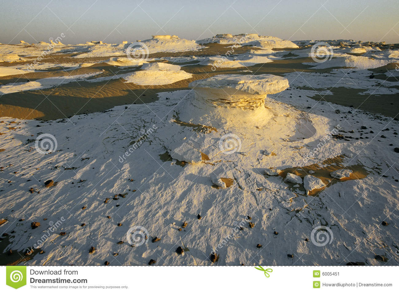 White Desert in Sunrise