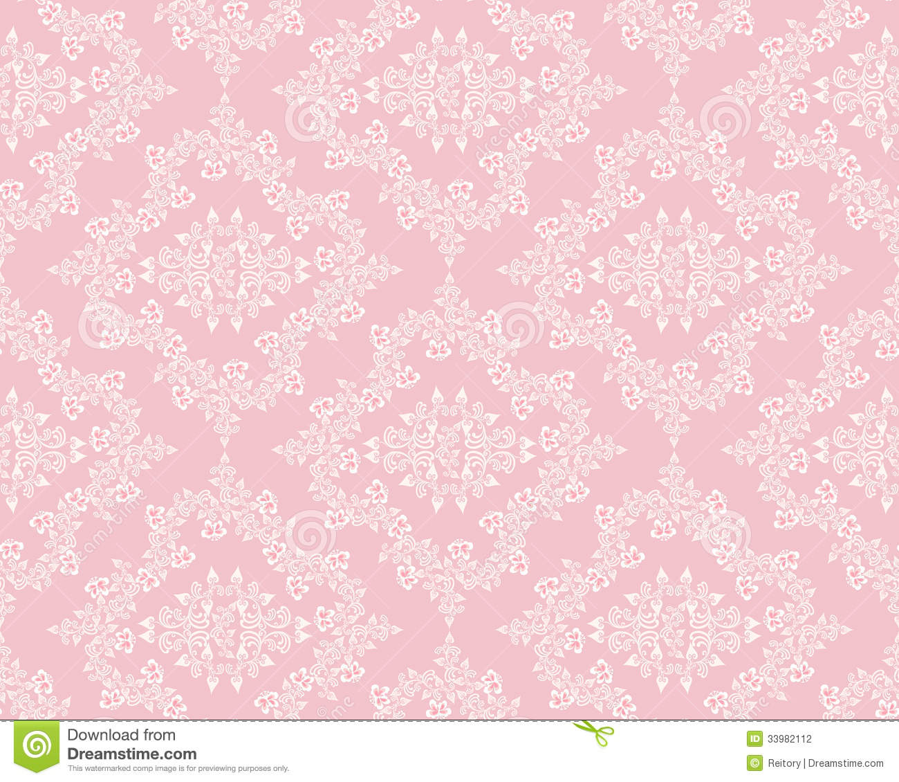 White Diamond Pattern With Violets Stock Photo Image