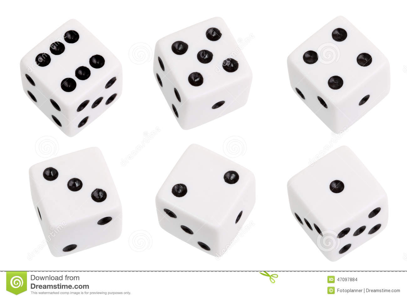 Download White dice stock photo. Image of roll, risk, number, isolated - 47097884
