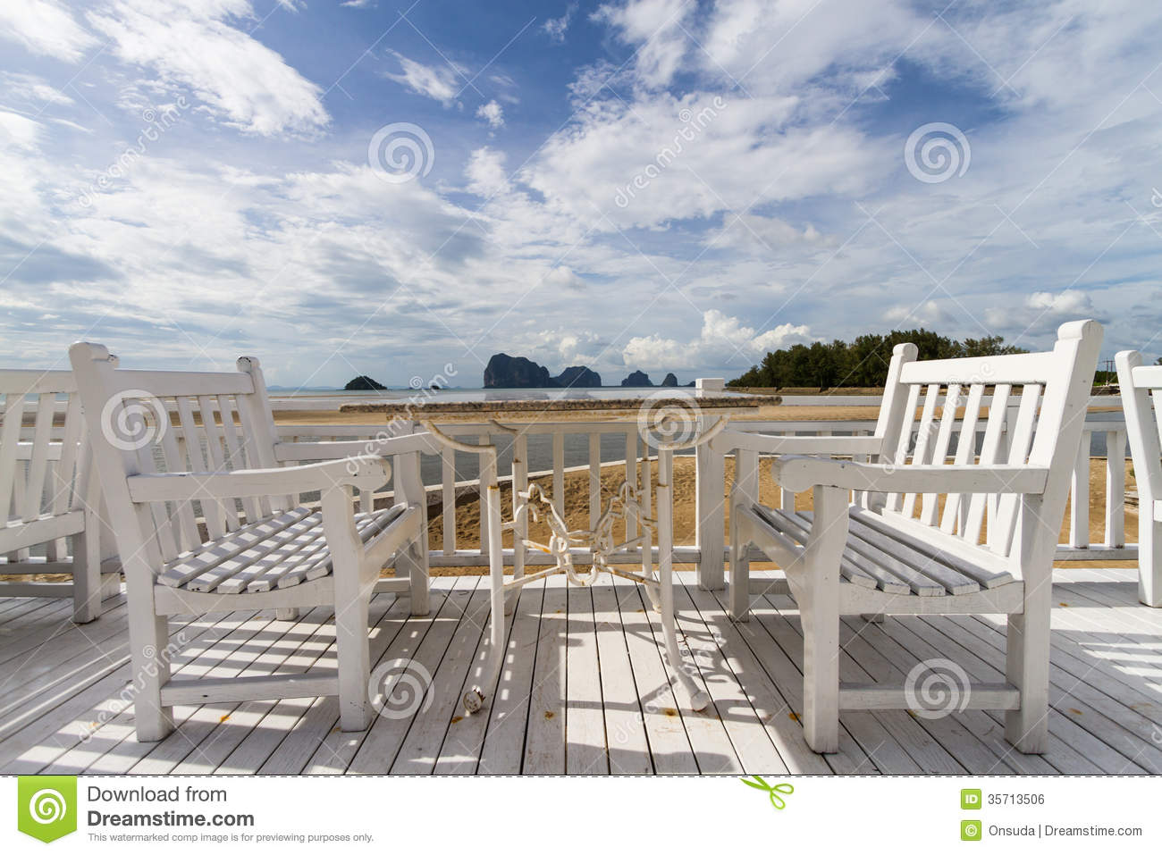White dining table royalty free stock image image 35713506 for Terrace white