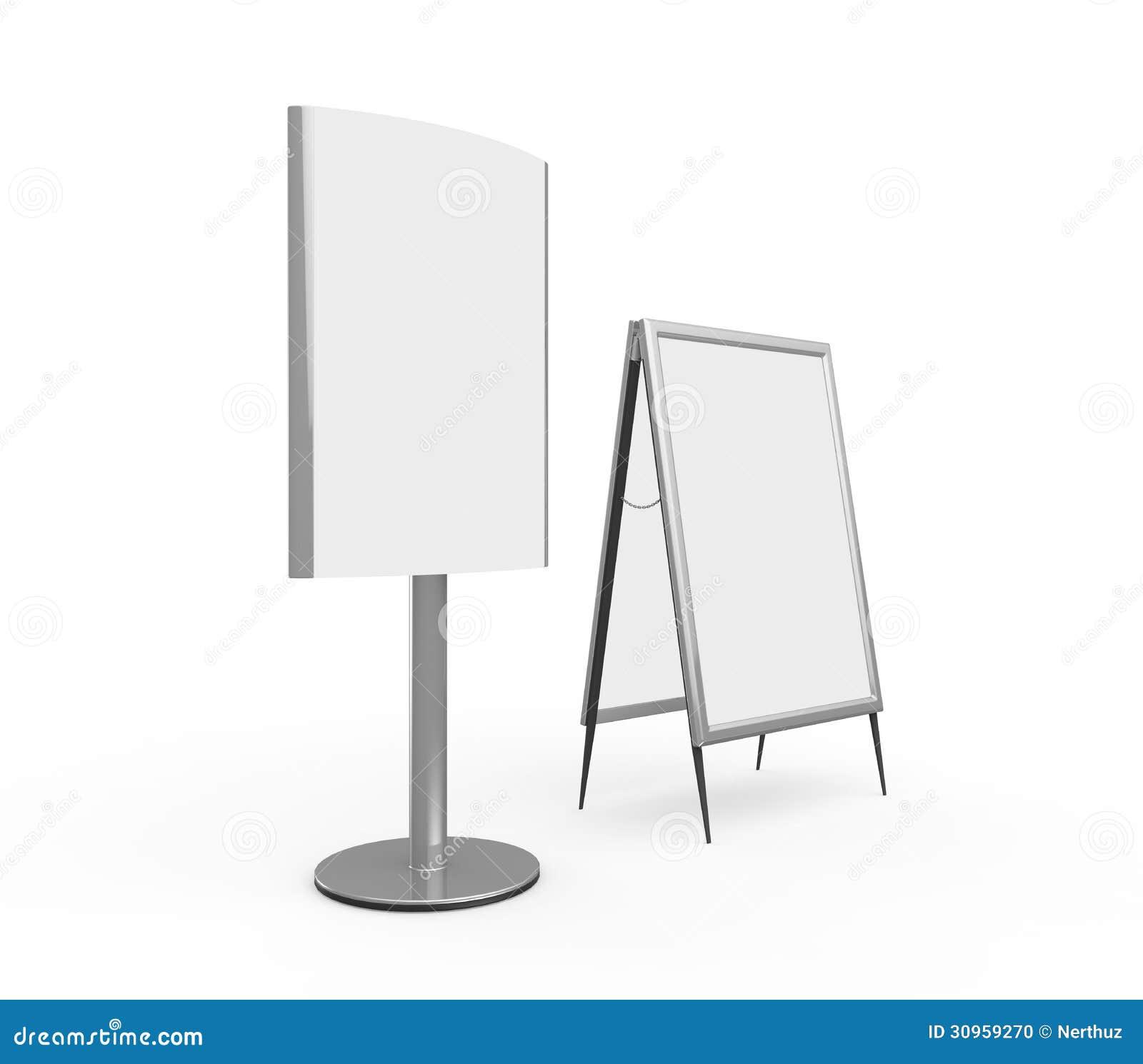 White Display Advertising Stand Stock Illustration - Illustration of