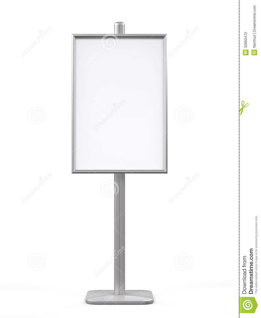 Exhibition Stand Advertising : White display advertising stand stock photography image