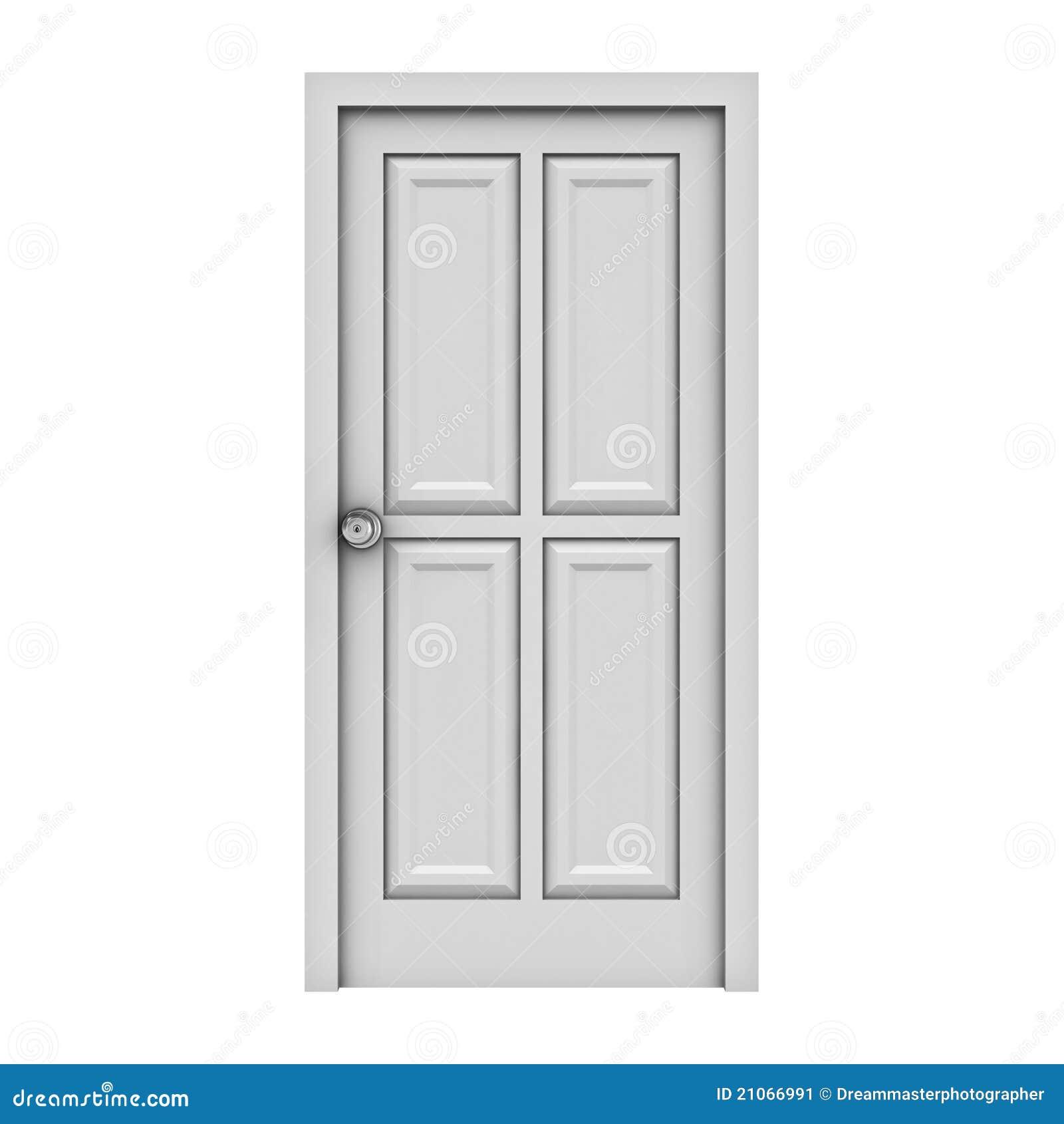 door isolated white