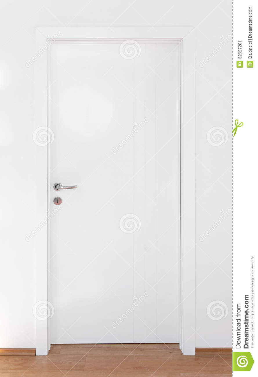 White Door Stock Image Image 32627201