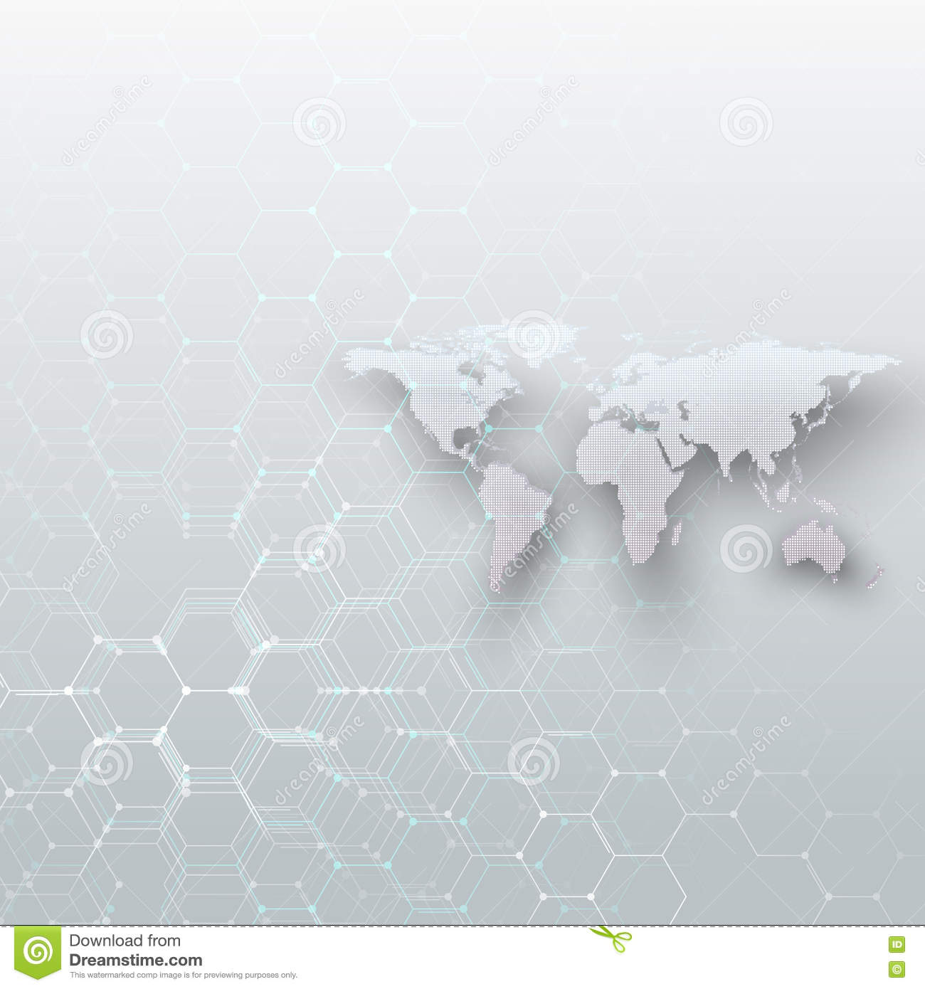 White dotted world map connecting lines and dots on gray color white dotted world map connecting lines and dots on gray color background chemistry pattern hexagonal molecule gumiabroncs Image collections