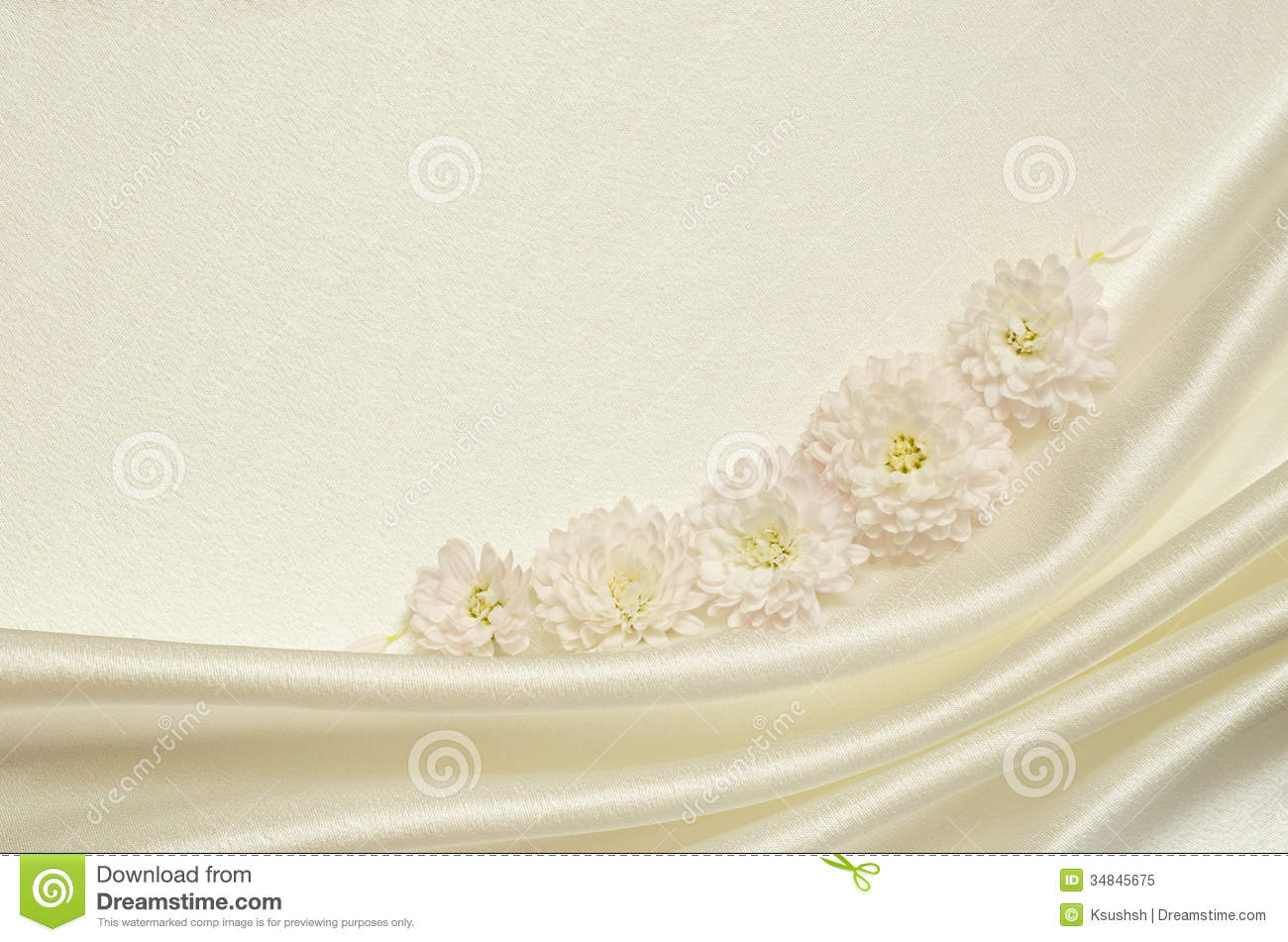 White Draped Fabric With Flowers Royalty Free Stock Photo