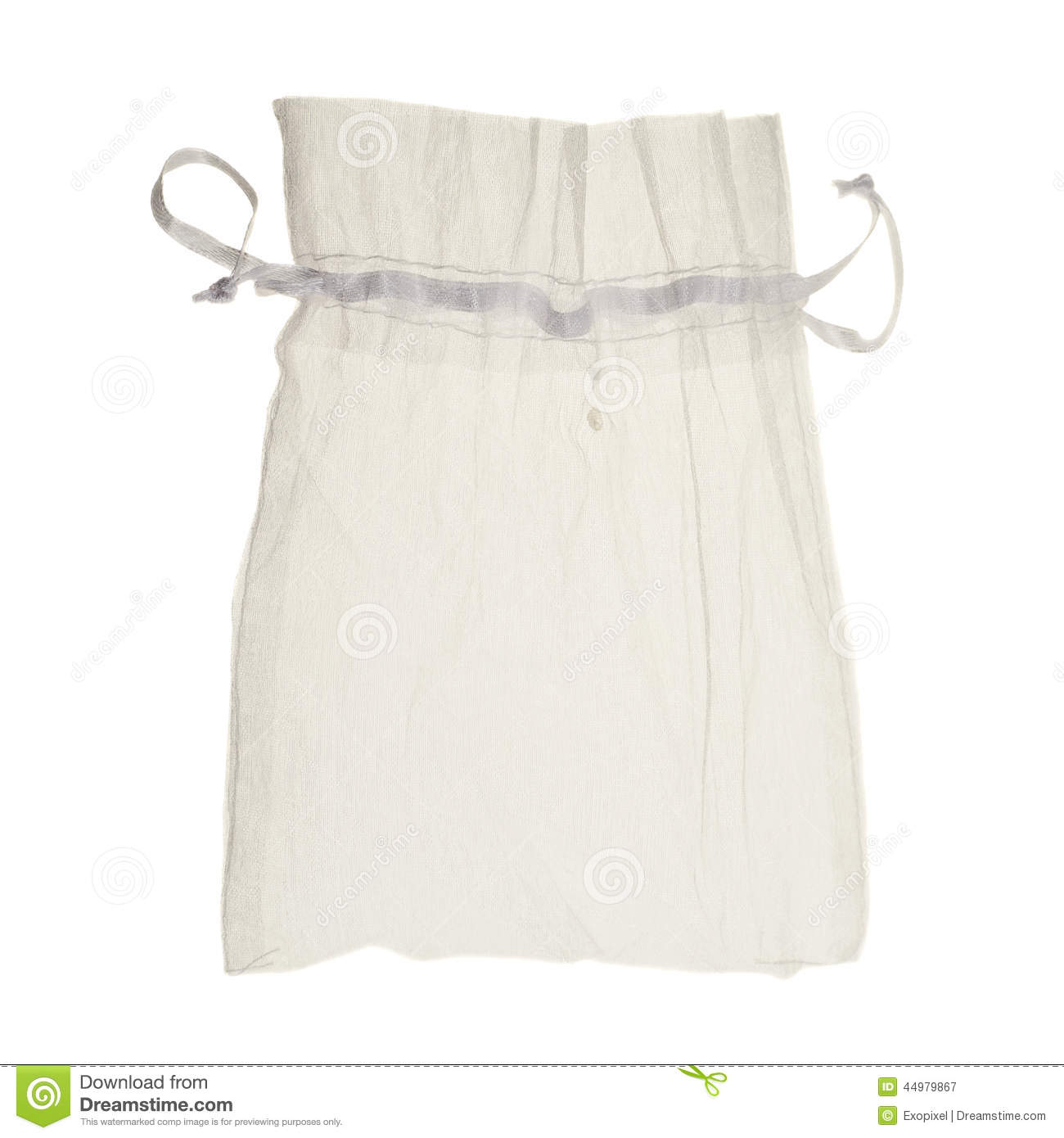 White Drawstring Bag Packaging Isolated Stock Photo - Image: 44979867