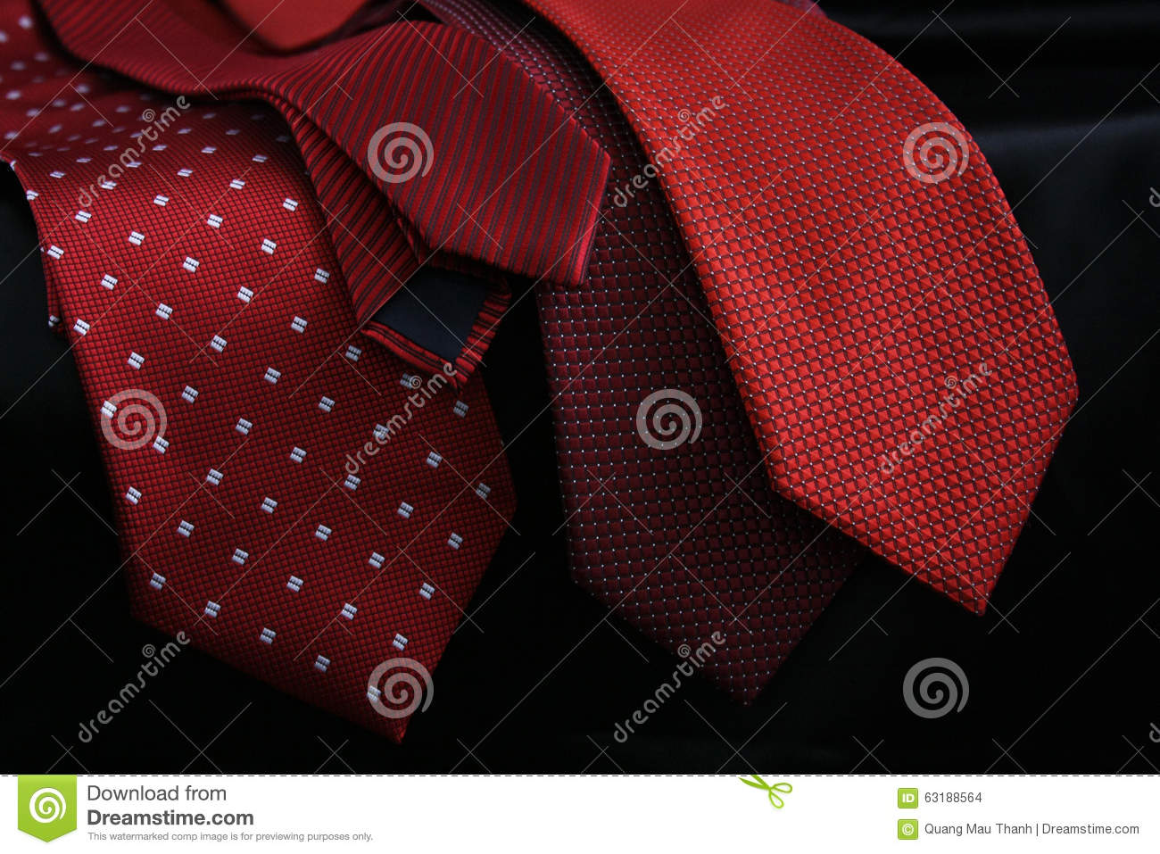 White Dress Shirt With Red Tie Detailed Closeup Stock Illustration
