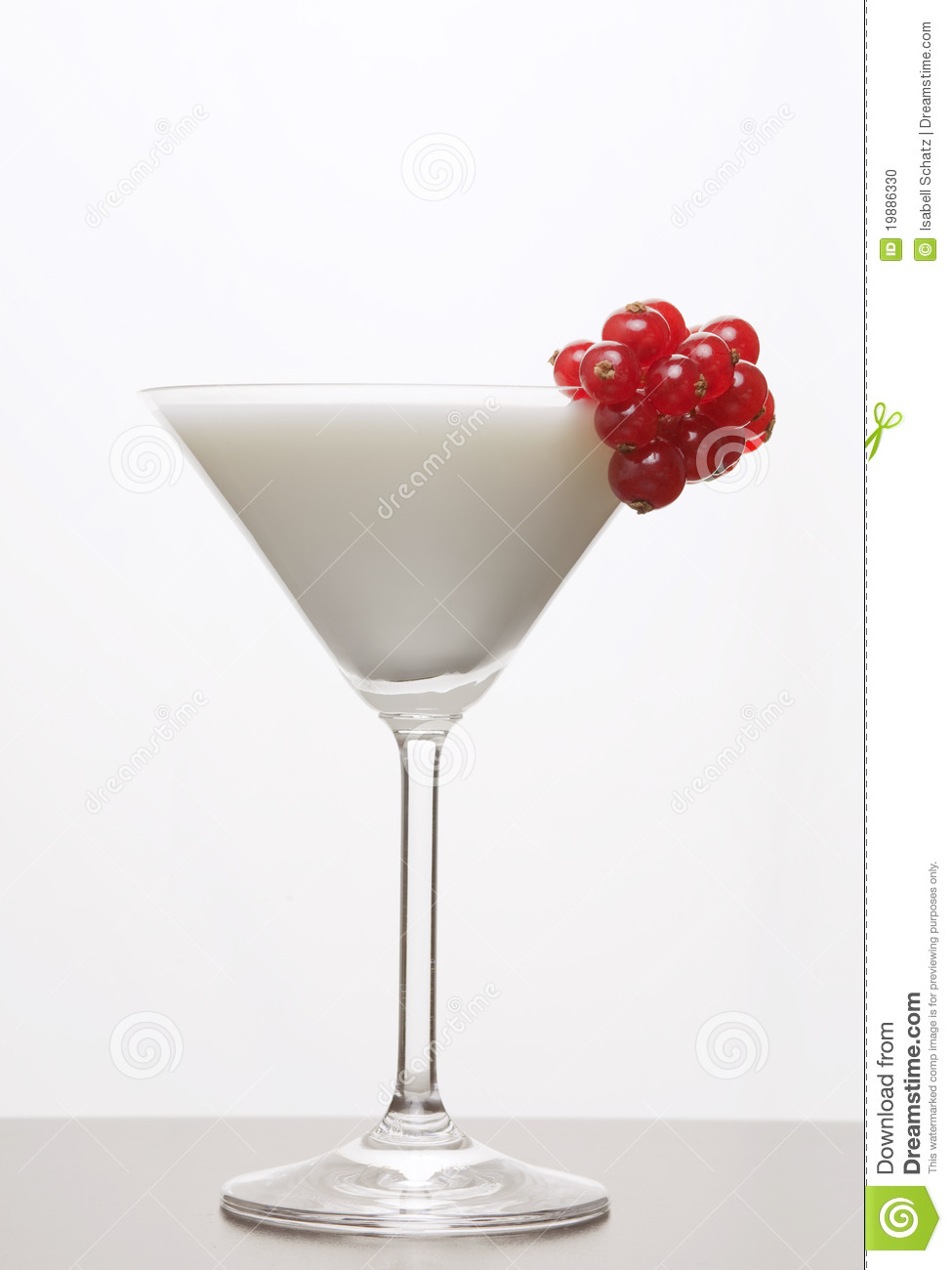 White Drink With Red Currants Stock Photo - Image: 19886330