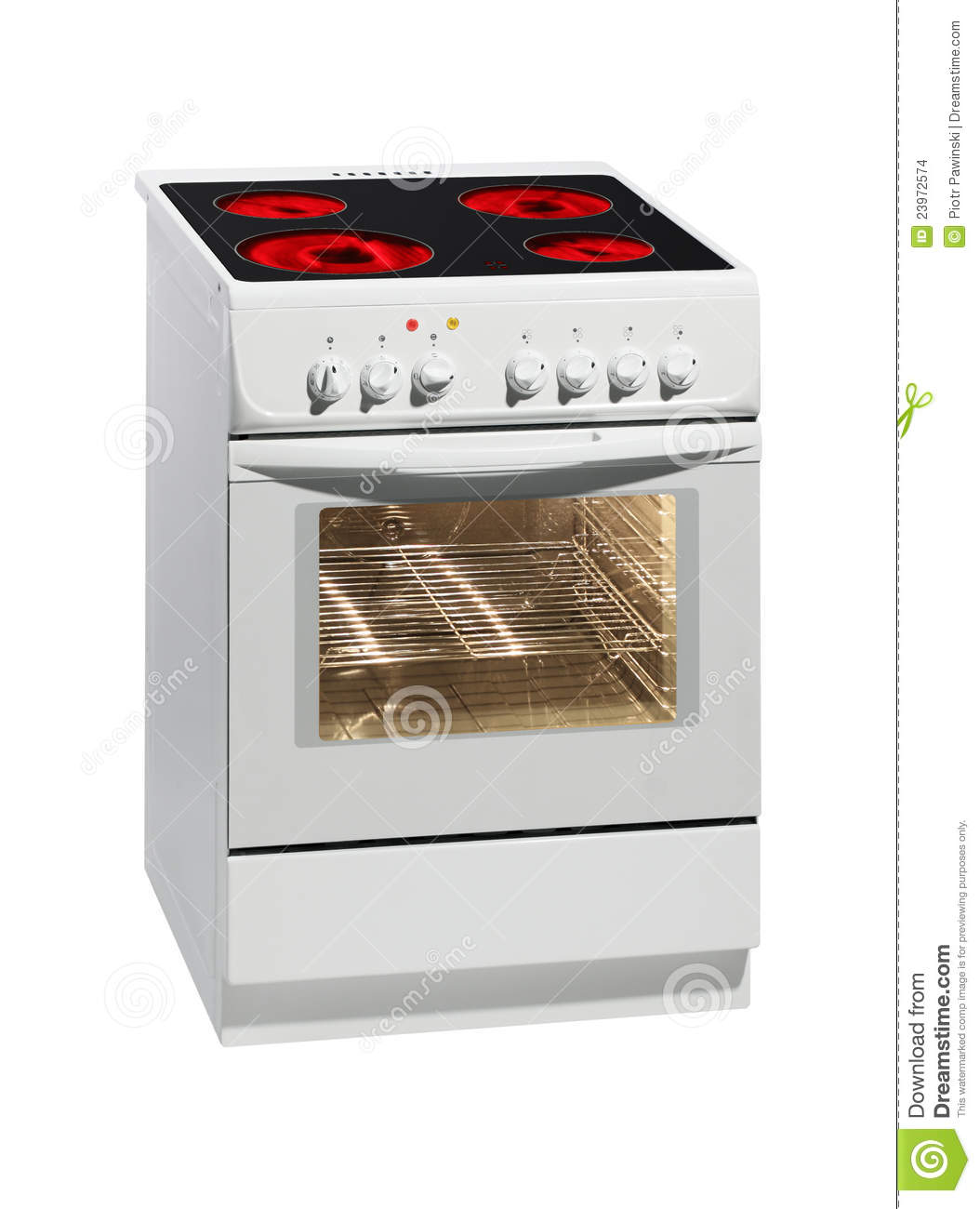 White Electric Stove ~ White electric stove with oven stock images image