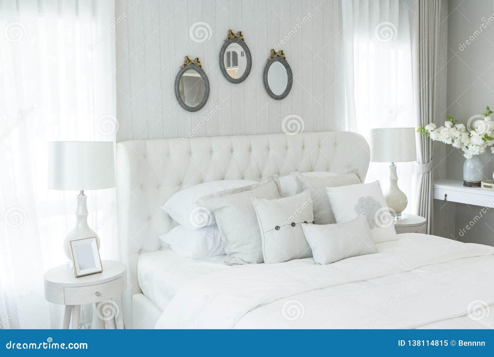 White Elegance English Style Bedroom Stock Image Image Of Room