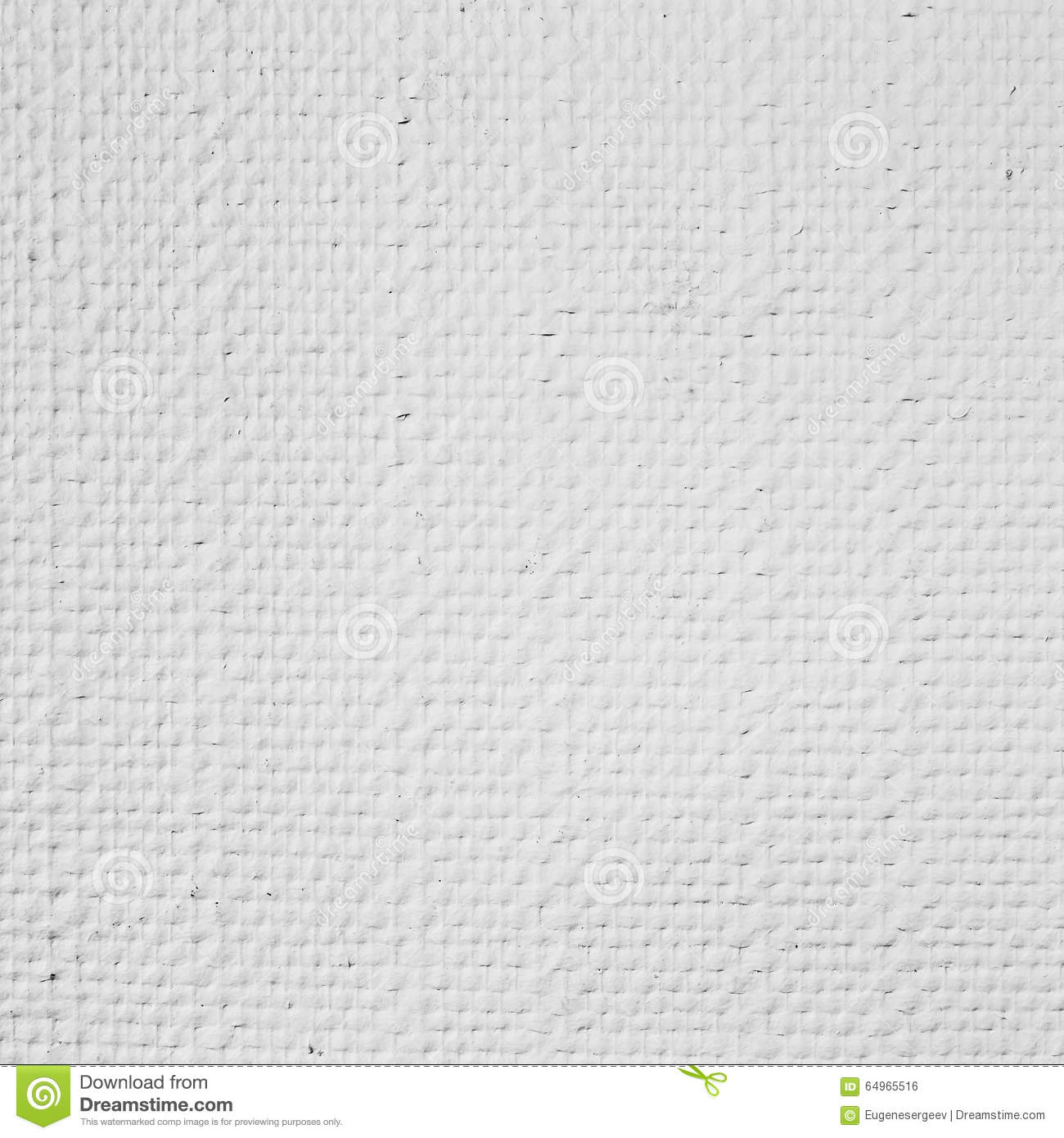 White Embossed Paintable Wallpaper, Square Detailed Background Photo Texture
