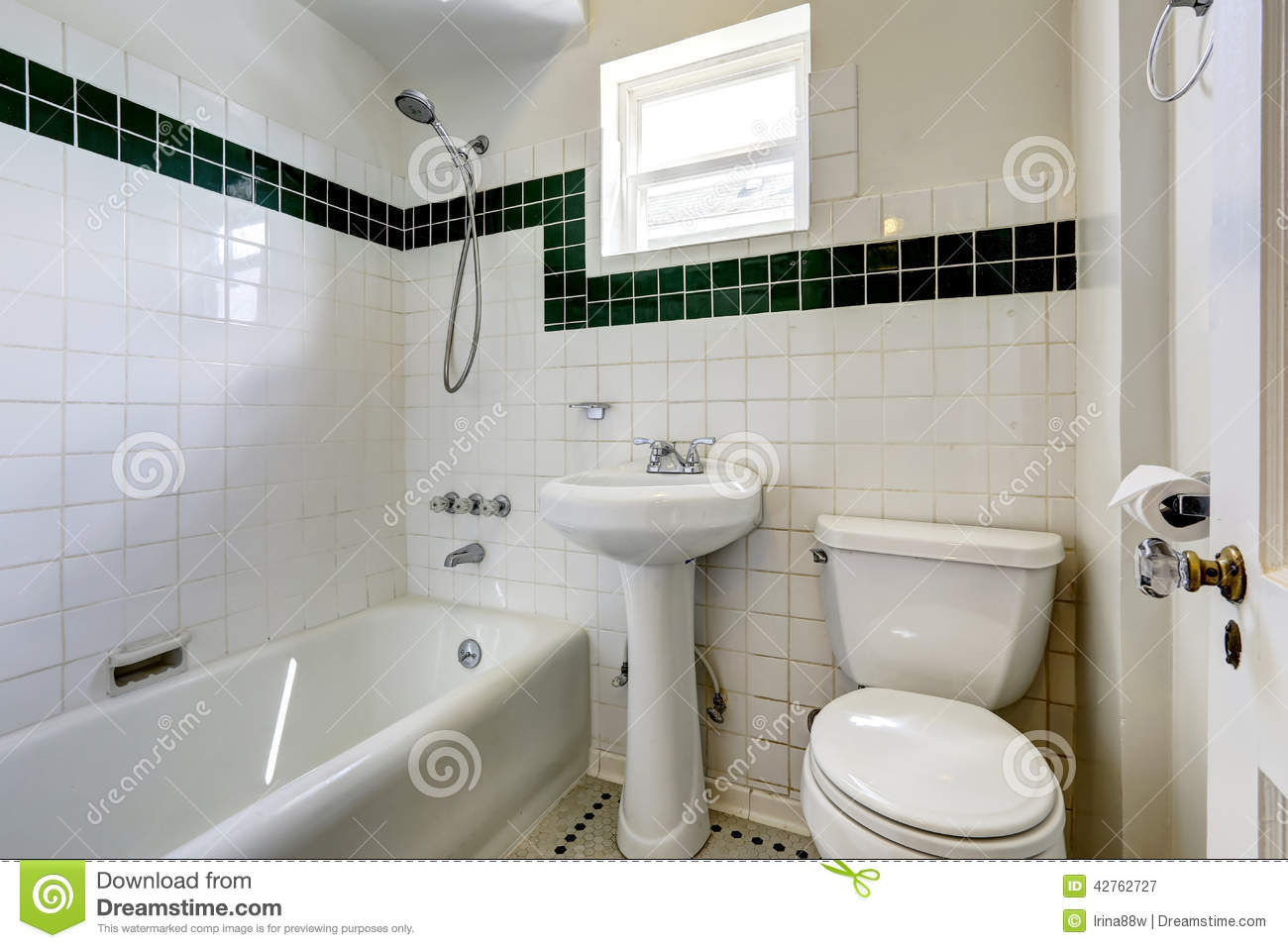 White empty bathroom with small window stock photo image for Mini lavabo salle de bain