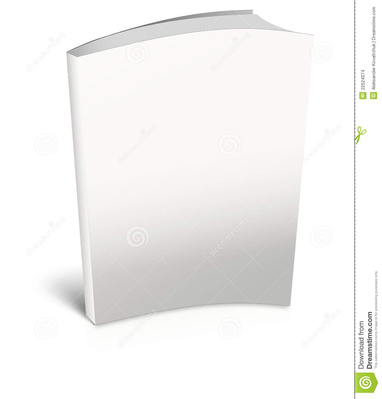Blank Vertical Book With Bookmark Template. Stock Vector ...
