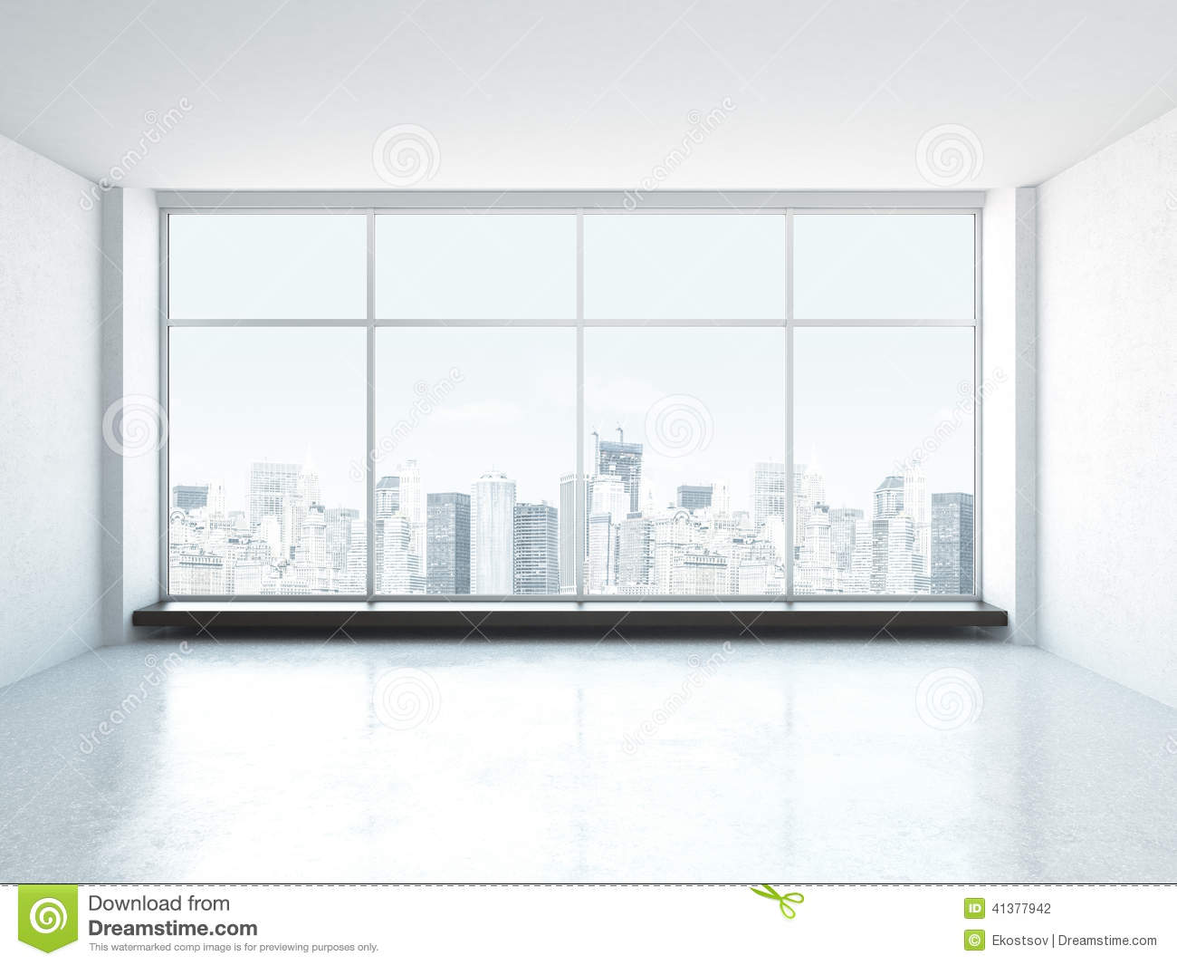 White Empty Interior Stock Illustration Image 41377942
