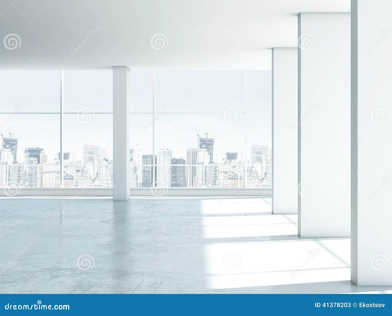 Interior windows - White Empty Office Interior Windows D Render 41378203 Jpg