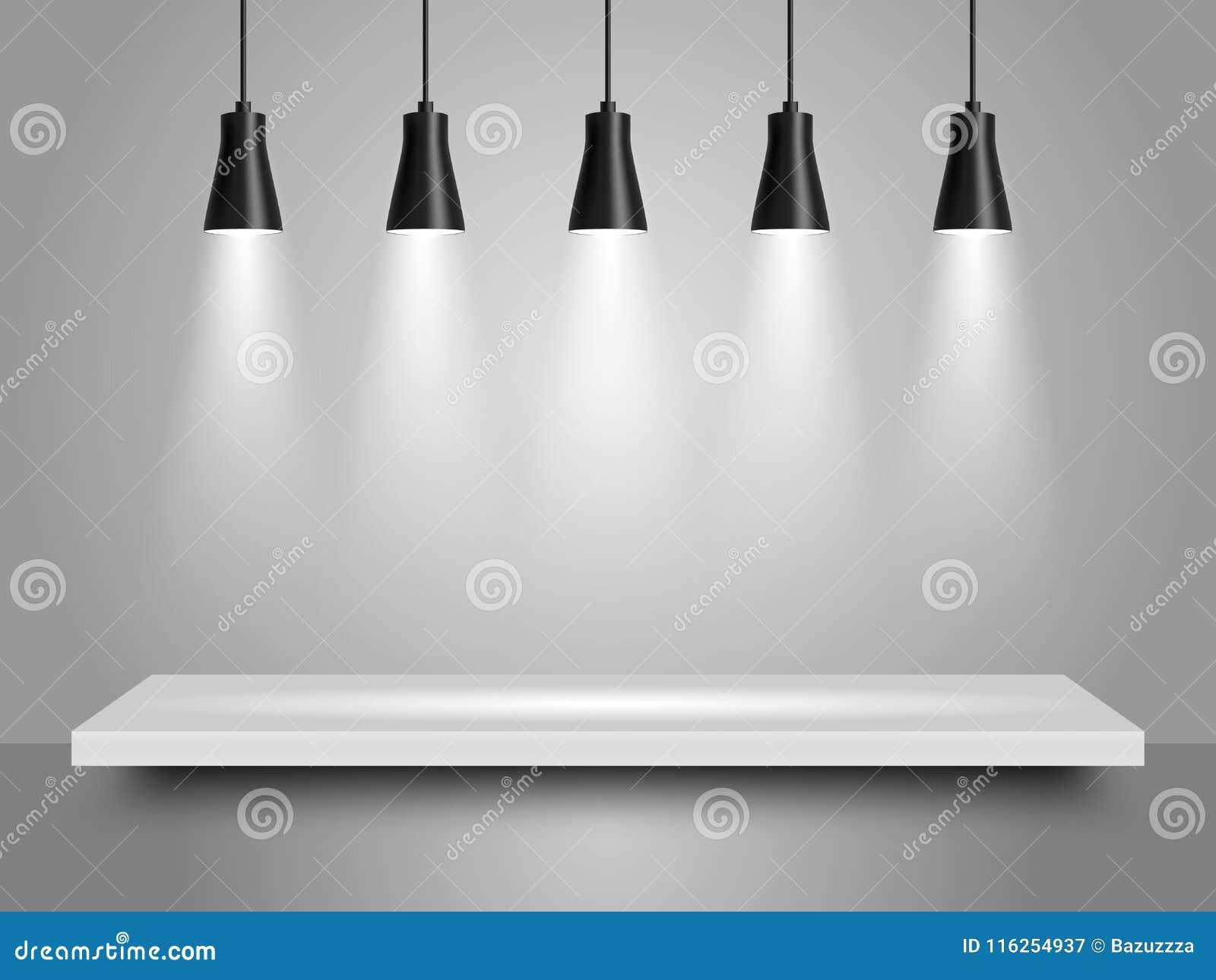 Spotlights vector realistic illustration stock vector