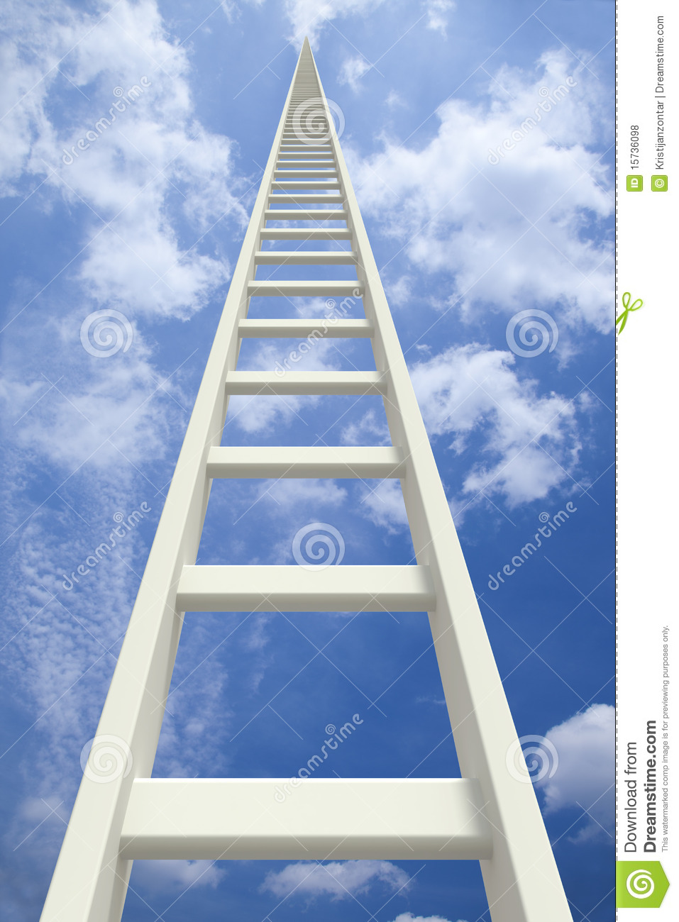 White Endless Ladder Going Up Royalty Free Stock Photos - Image ...: dreamstime.com/royalty-free-stock-photos-white-endless-ladder-going...