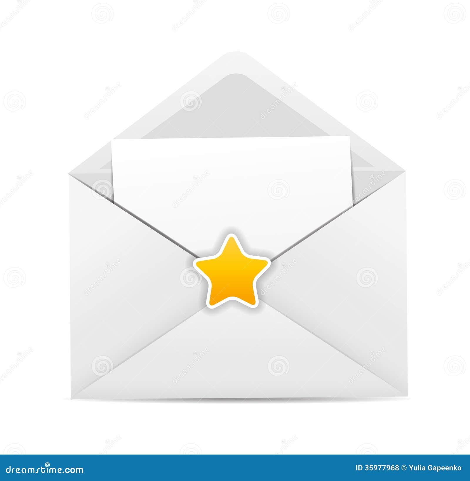 white envelope icon star vector illustration royalty white envelope icon star vector illustration