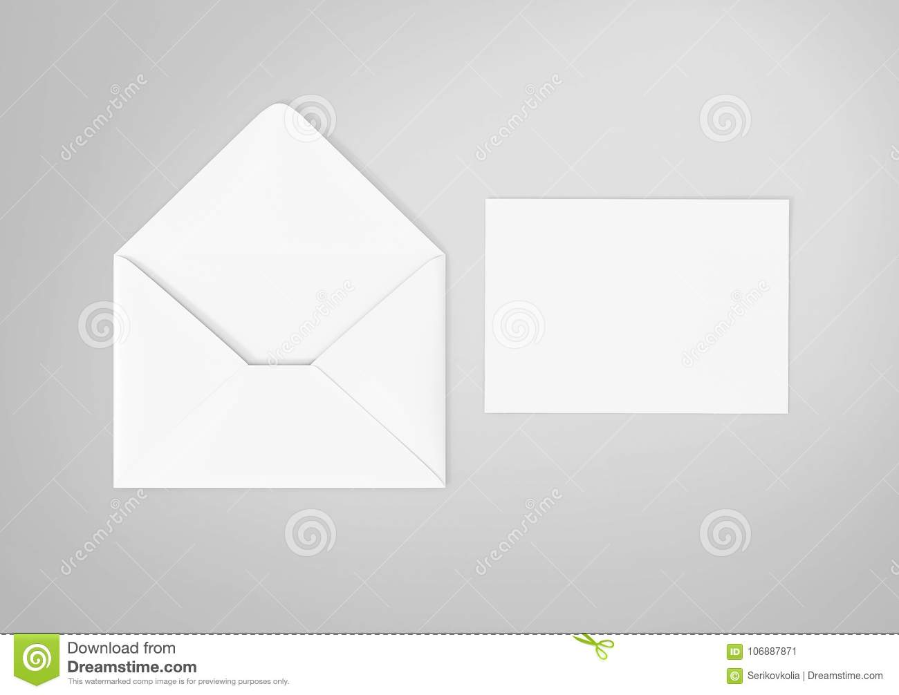 white blank envelope mockup and blank letterhead presentation