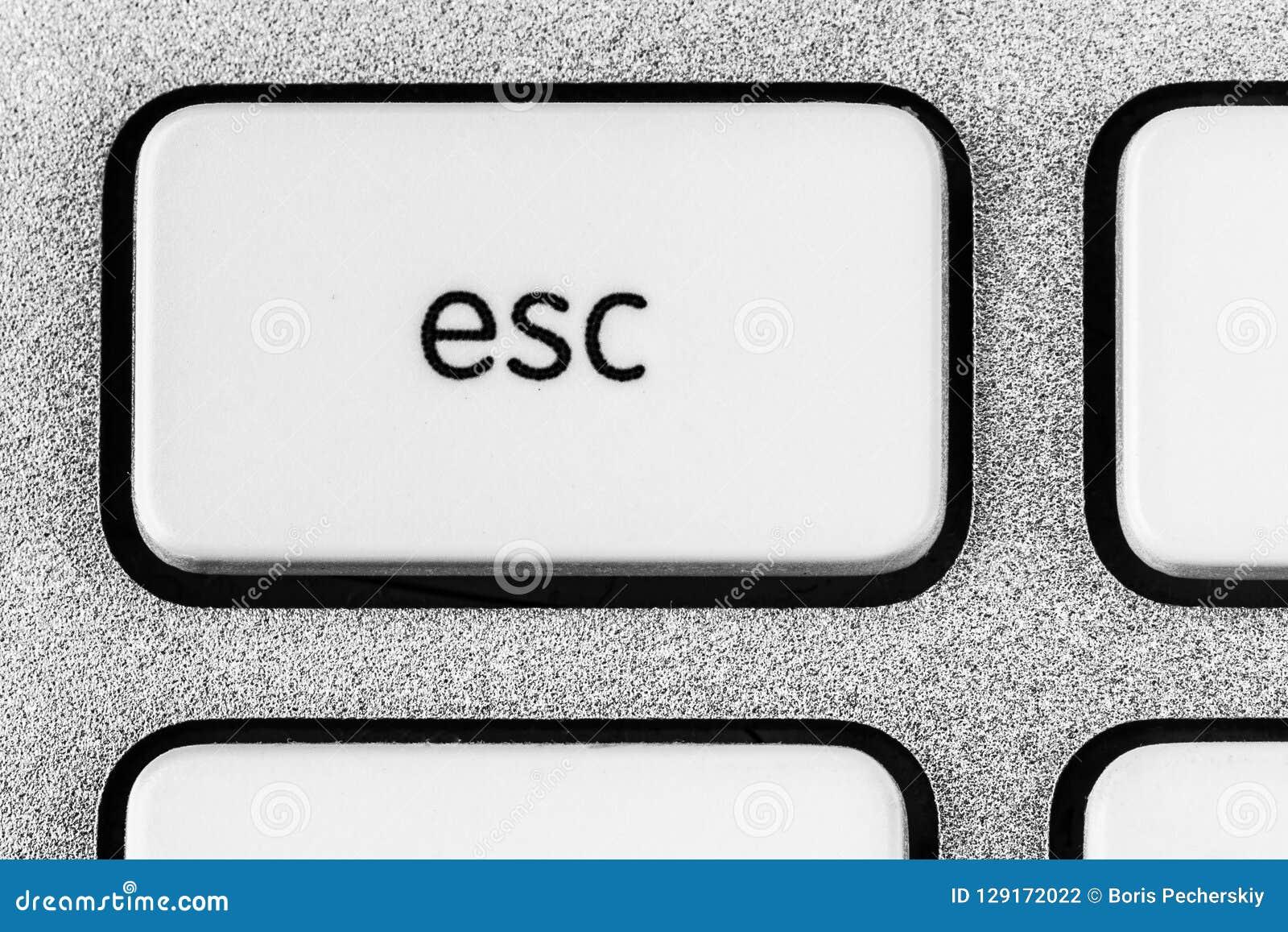 White ESC button