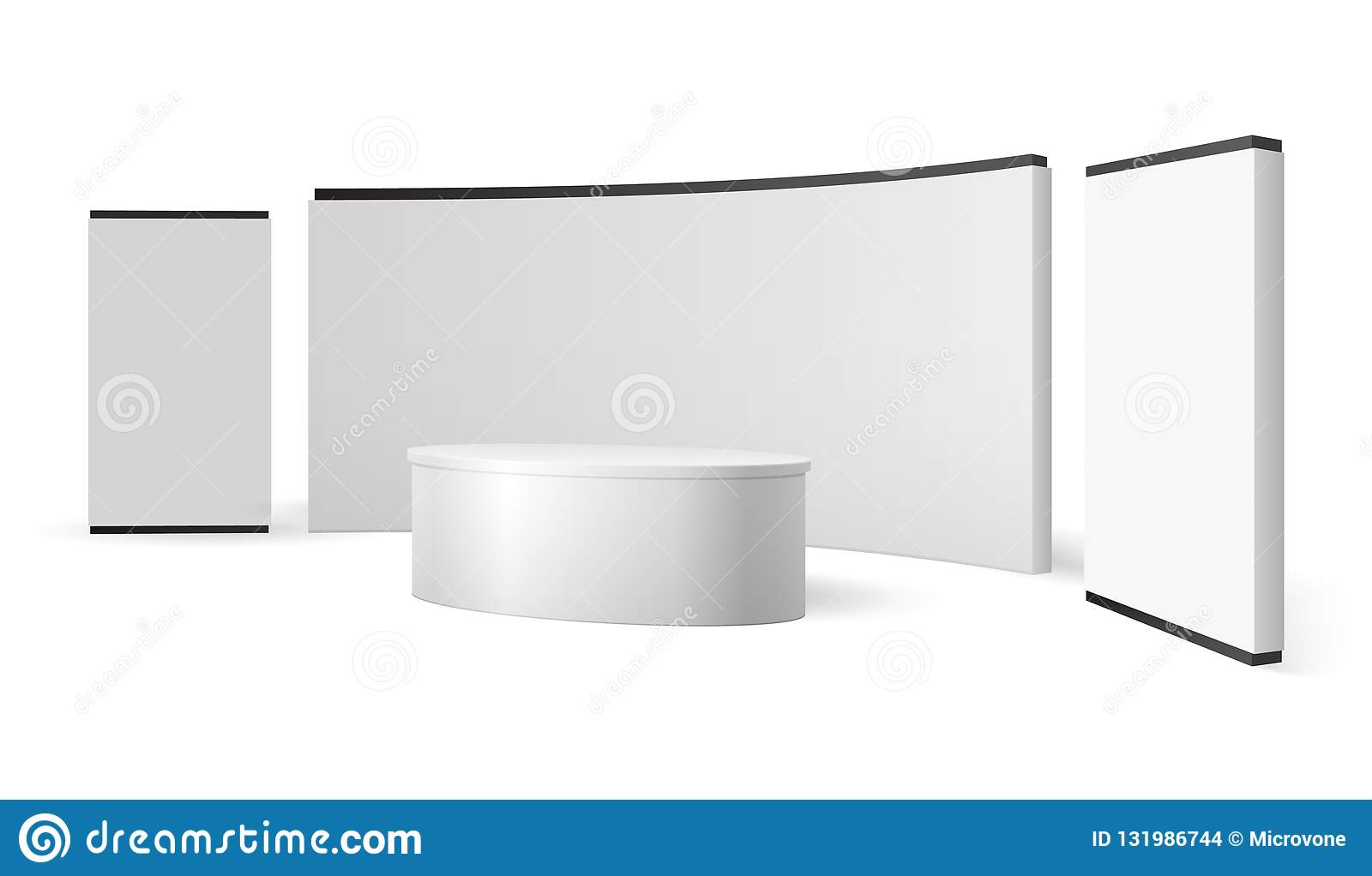 White Exhibition Stand Blank Trade Show Booth Promotional