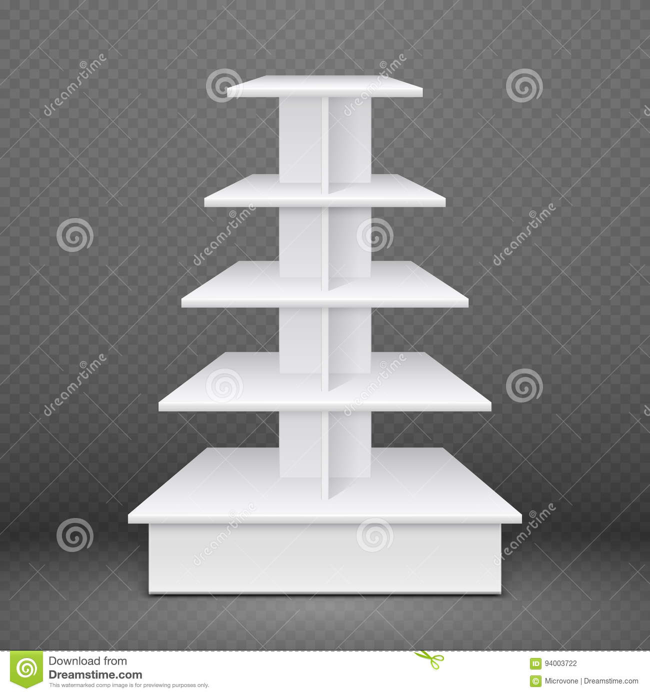 Exhibition Stand With Shelves : White exhibition stand with square shelves retail advertising