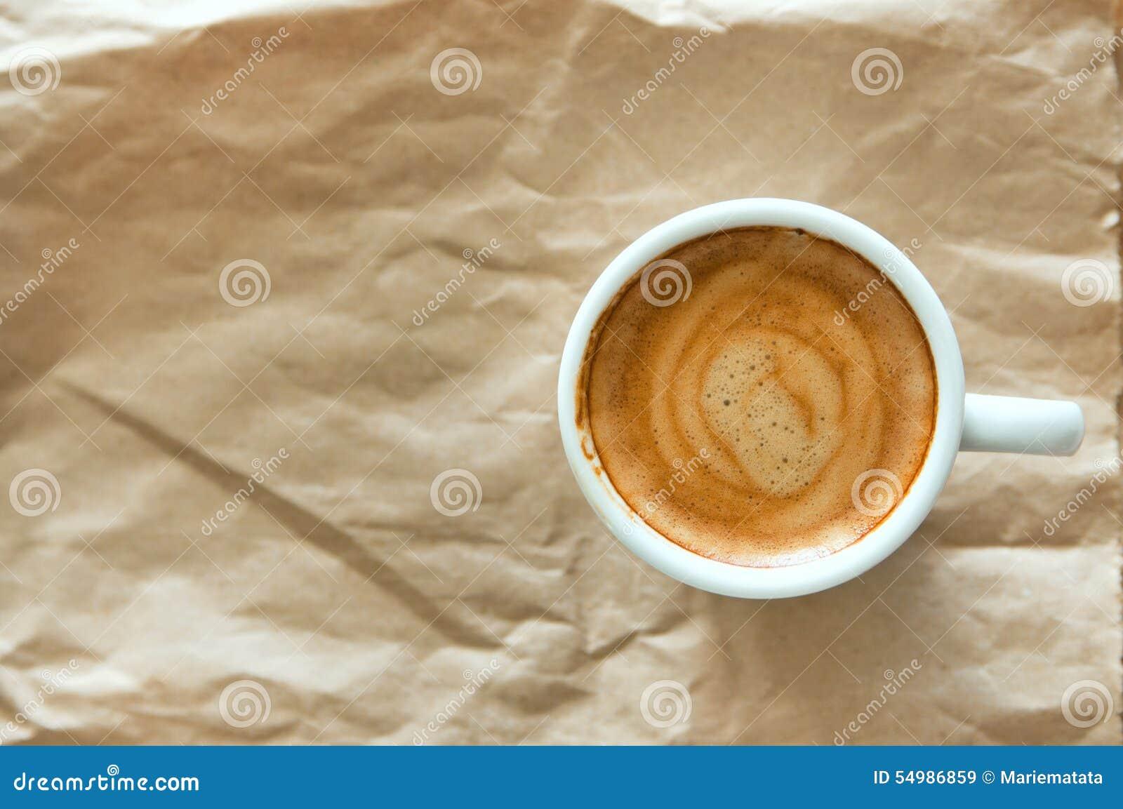 White för bana för bakgrundskaffekopp espresso isolerad