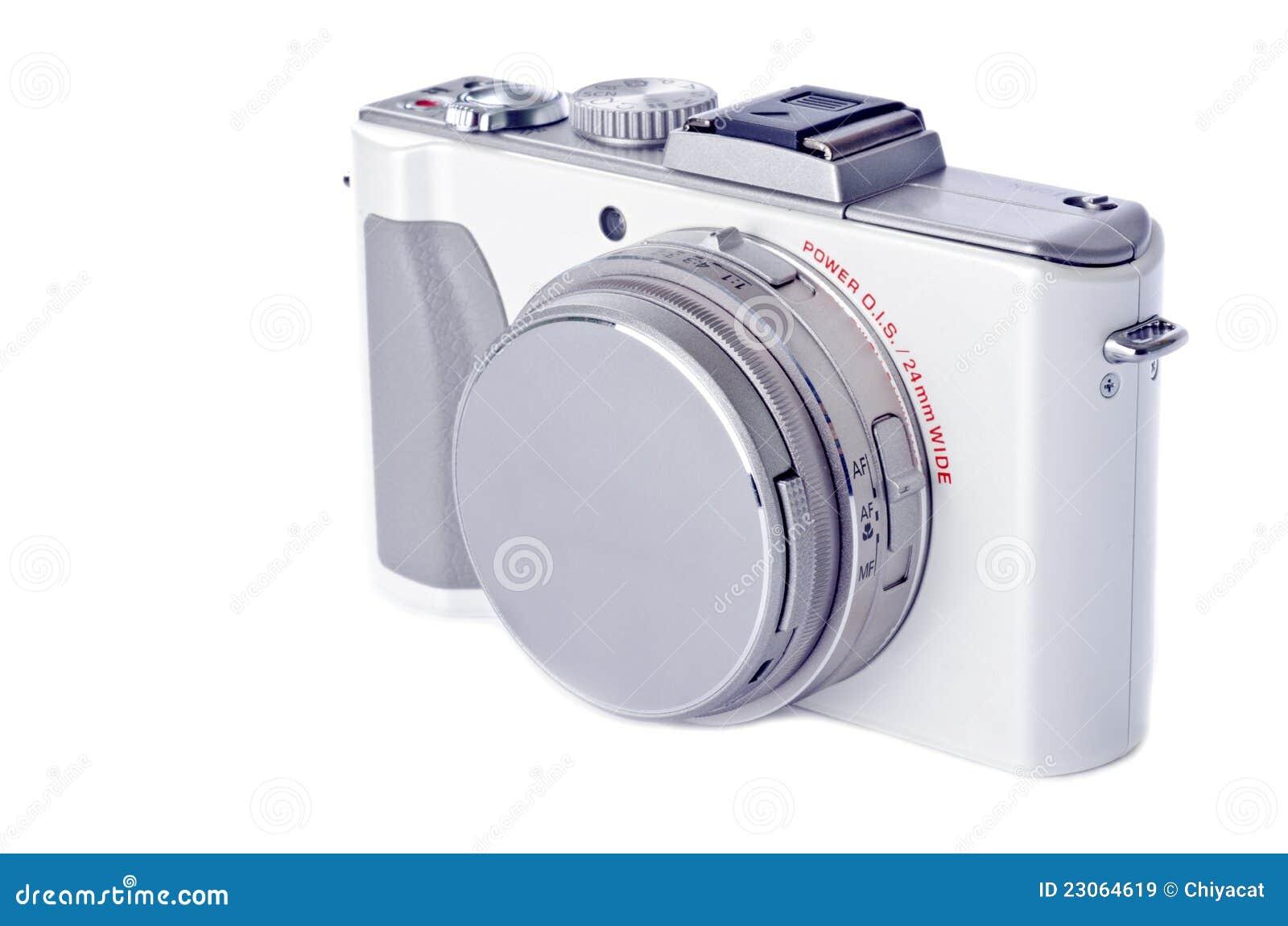 White för for för isolerad punkt för kamera digital