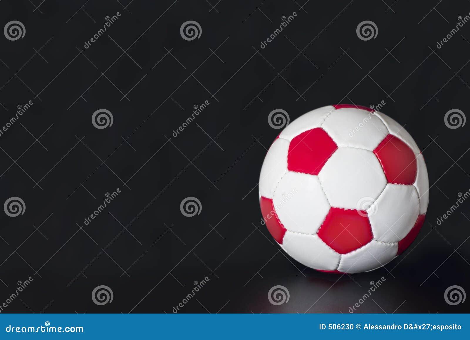 White för fotboll för bakgrundsbollblack röd